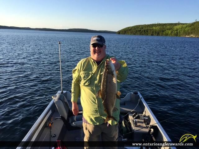 """29"""" Whitefish caught on Hawk Lake"""