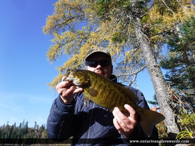 "18.5"" Smallmouth Bass caught on Mink Lake"