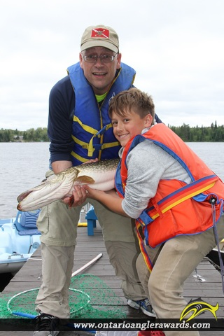 """42"""" Northern Pike caught on McConnell Lake"""