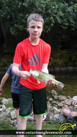 "18"" Largemouth Bass caught on Irvine River"