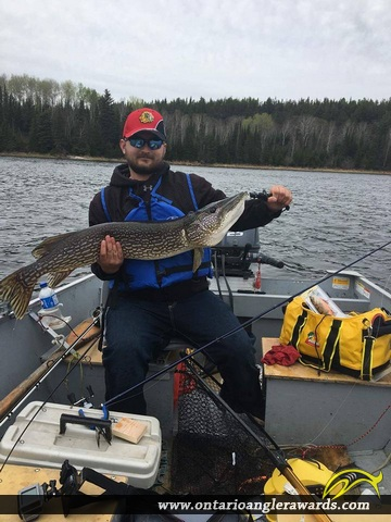 "41"" Northern Pike caught on Wine Lake"