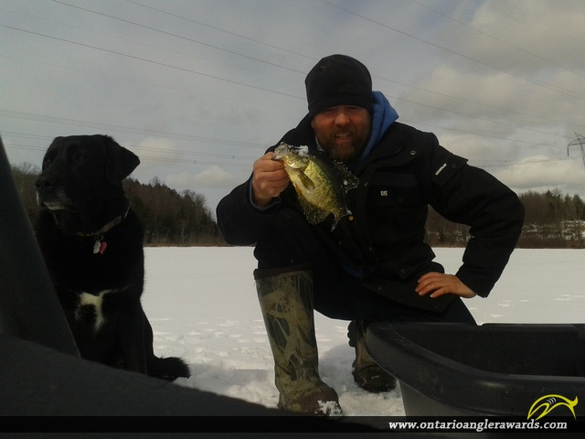 """10"""" Black Crappie caught on Lost Lake"""