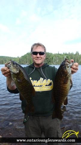 "17.25"" Smallmouth Bass caught on Loxton Lake"
