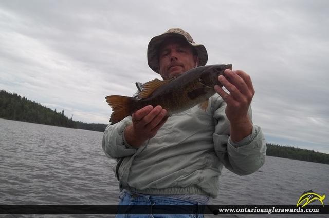 "18"" Smallmouth Bass caught on Bridge Lake"