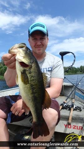 """18.35"""" Largemouth Bass caught on Wasi Lake"""