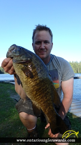 "18.06"" Smallmouth Bass caught on Loxton Lake"