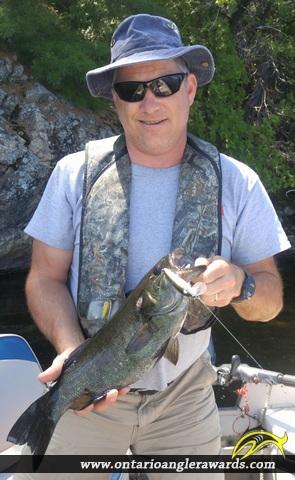 "19"" Smallmouth Bass caught on Long Lake"