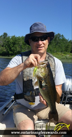 """18.5"""" Largemouth Bass caught on Deer Lake"""