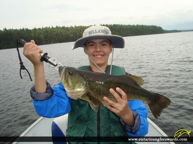 "21"" Largemouth Bass caught on Bob\'s Lake"