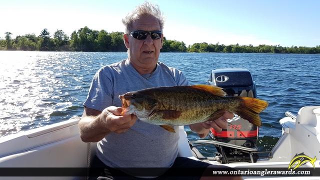 "19"" Smallmouth Bass caught on Georgian Bay"