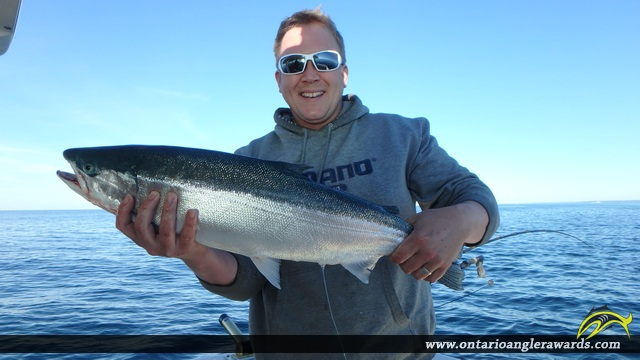 "28.00"" Rainbow Trout caught on Lake Ontario"