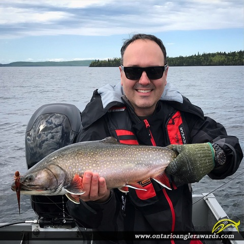 """24"""" Brook/Speckled Trout caught on Lake Nipigon"""
