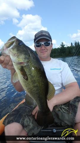 "19.10"" Largemouth Bass caught on Pot Lake"