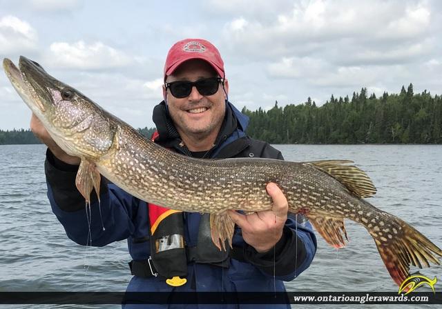 "38"" Northern Pike caught on Wawang Lake"