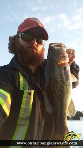 "22"" Largemouth Bass caught on Sturgeon Lake"