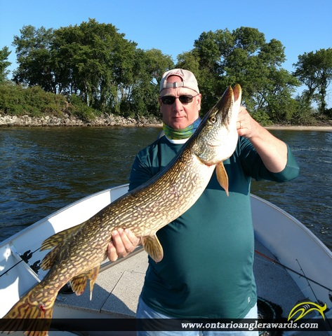 """42.70"""" Northern Pike caught on Lake of the Woods"""