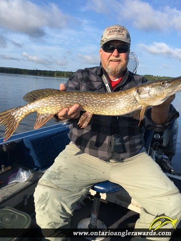 "32.5"" Northern Pike caught on Wawang Lake"