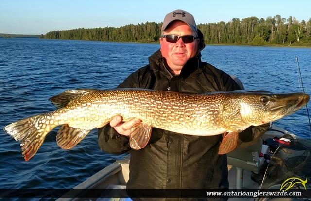 "40"" Northern Pike caught on Wawang Lake"