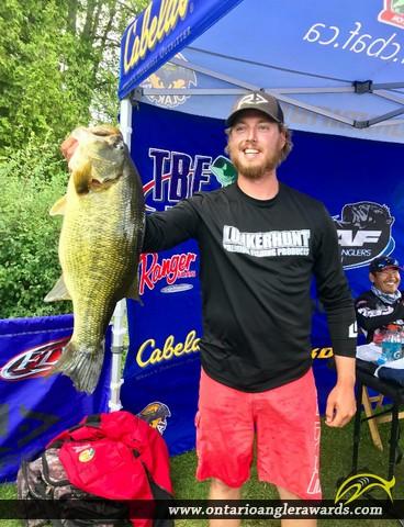 "21.75"" Largemouth Bass caught on Big Rideau"