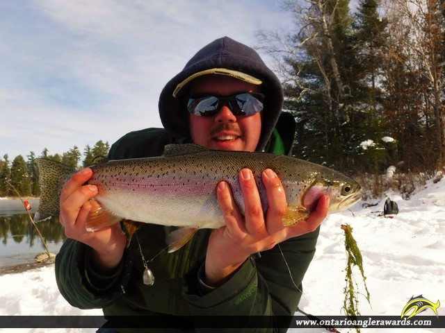 "21"" Rainbow Trout caught on Wyse Lake"