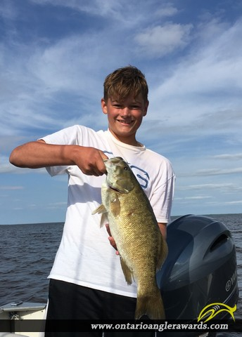 """21"""" Smallmouth Bass caught on Lake of the Woods"""