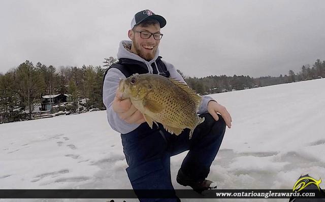 "11"" Rock Bass caught on Black Lake"