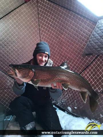 """34"""" Lake Trout caught on Lake of the Woods"""