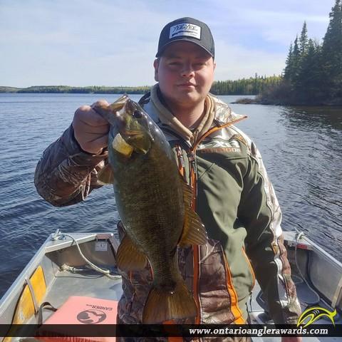 """17"""" Smallmouth Bass caught on Malachi Lake"""