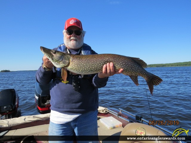 "38"" Northern Pike caught on Lac Seul"
