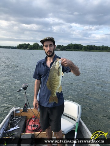 "19.25"" Smallmouth Bass caught on St. Lawrence River"