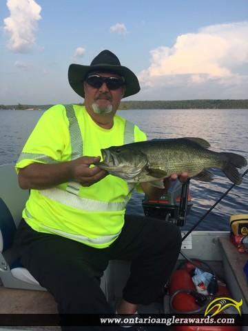 """19"""" Largemouth Bass caught on Lower Buckhorn"""