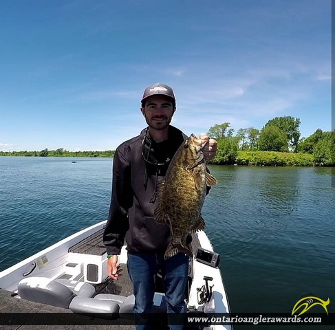 "20.25"" Smallmouth Bass caught on St. Lawrence Seaway"