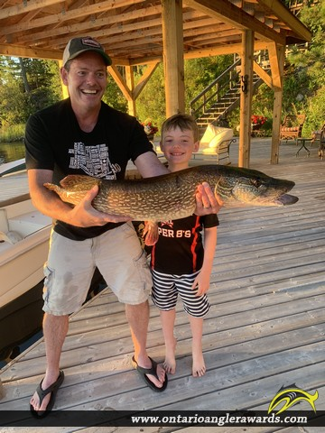 """41"""" Northern Pike caught on Lake of the Woods"""