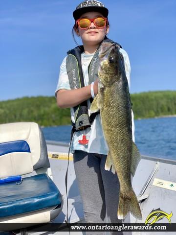 "28.5"" Walleye caught on Paguchi Lake"