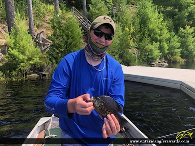 "9"" Pumpkinseed caught on Cowan Lake"