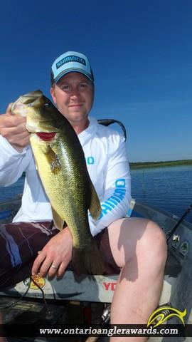 """18.03"""" Largemouth Bass caught on Wasi Lake"""