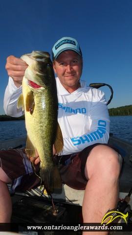 """18.15"""" Largemouth Bass caught on Wasi Lake"""