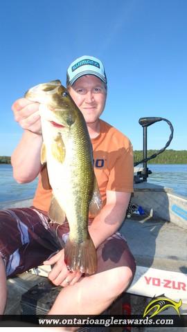 """18.00"""" Largemouth Bass caught on Wasi Lake"""