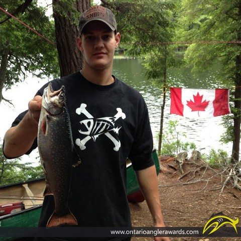 """19"""" Brook/Speckled Trout caught on Boot Lake"""