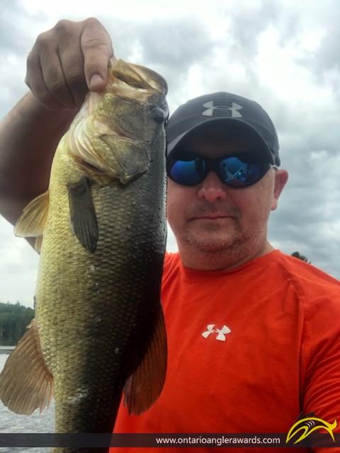 "18"" Largemouth Bass caught on Sullivan Lake"
