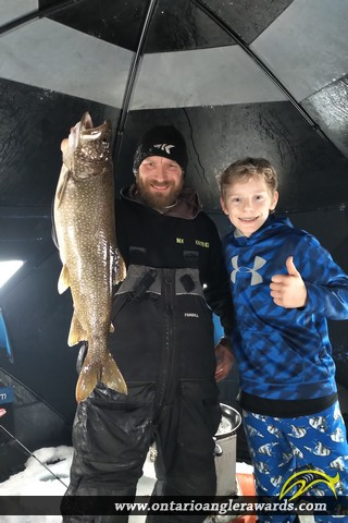 "28"" Lake Trout caught on Loughborough Lake"