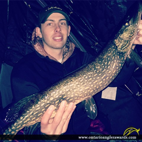 """30"""" Northern Pike caught on Big Rideau"""