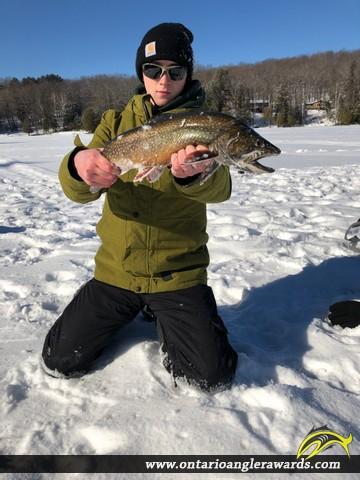 """20.5"""" Splake caught on Longline Lake"""