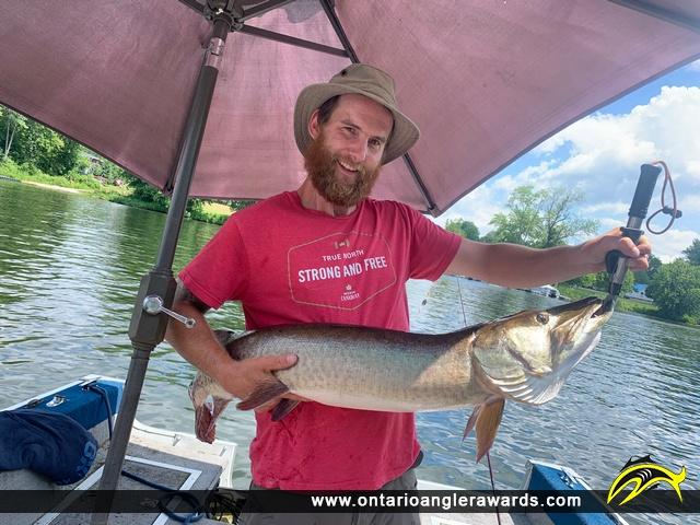"""48"""" Muskie caught on Otonabee River"""