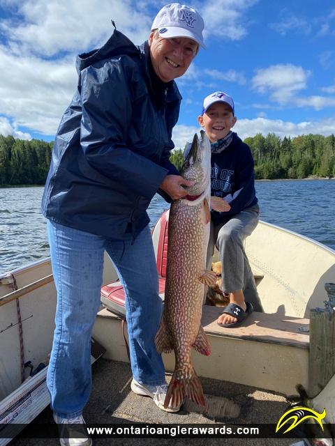 "41"" Northern Pike caught on Minnitaki Lake"