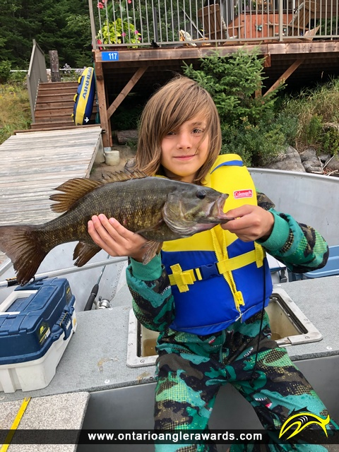 "18"" Smallmouth Bass caught on Culloden Lake"