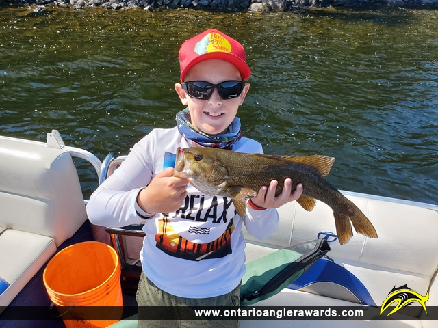 "18.25"" Smallmouth Bass caught on Sandstone Lake"