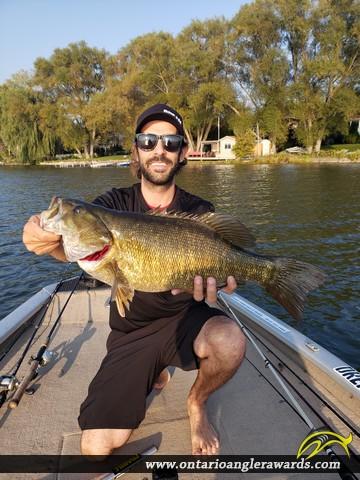 "22"" Smallmouth Bass caught on Lake Scugog"