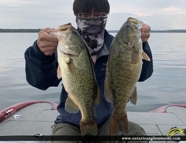 """19"""" Smallmouth Bass caught on Lake Couchiching"""
