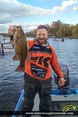 """19.4"""" Smallmouth Bass caught on Big Rideau Lake"""